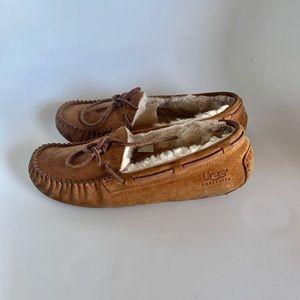 Women UGG Australia Leather Sheepskin Slippers Sz7